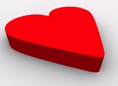 Red heart isolated on ...