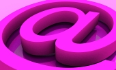 Email symbol in pink ...