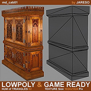 Lowpoly medieval cabinet