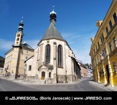 Църквата в Банска Štiavnica, Словакия