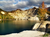 Есенни води на Sutovo езеро, Словакия