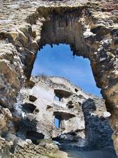 Вътрешните стени на Likava Castle, Словакия