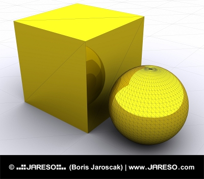 3d Primitives, Box og Sphere
