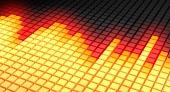 Gul glødende diagonal equalizer