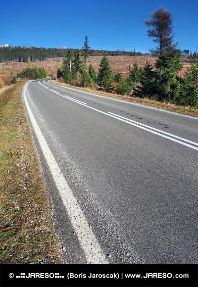 Hovedvejen til Høje Tatra fra Strba