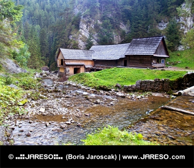 Vand savværk i Kvacianska Valley, Slovakiet