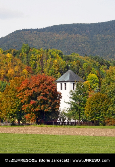 Tower of kirken i Liptovska Sielnica, Slovakiet