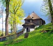 En sj?lden UNESCO kirke i Lestiny, Slovakiet