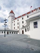 Main gårdsplads Bratislava Slot, Slovakiet