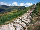 Turist sti på Chleb peak