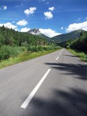 Vejen til toppen af Velky Rozsutec
