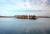Slanica Island ved sen aften