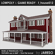 Lowpoly family house