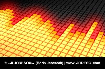 Gelb leuchtende diagonal equalizer