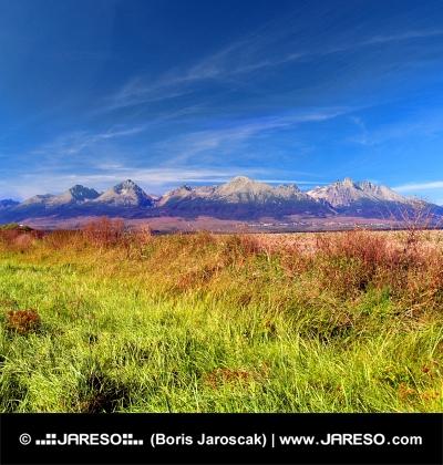 Bunte Tatra muntains im Sommer