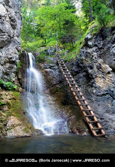 Waterfall in Kvačianska Valley
