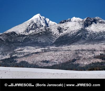 Krivan, Kratka und Ostra Peaks im Winter