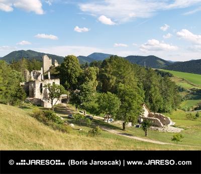 Erhaltung der Sklabina Castle