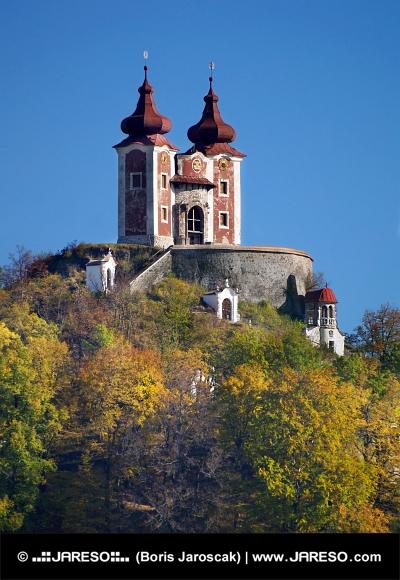 Kalvarienberg auf Ostry vrch Hügel, der Slowakei