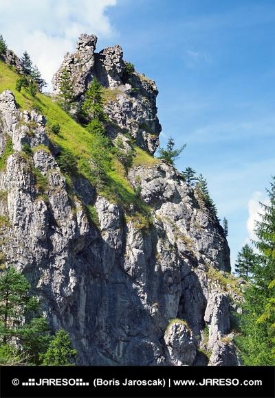 Einzigartige Felsen in Vratna -Tal, in der Slowakei