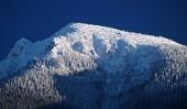Gipfel des Mount Großen Choc in winter