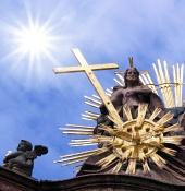 Die Sonne und der cross