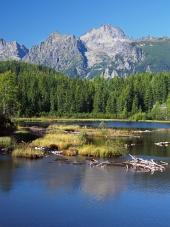 Strbske Pleso in der slowakischen Hohen Tatra im Sommer