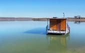 Hausboot am Orava Reservoir (Oravská Priehrada)