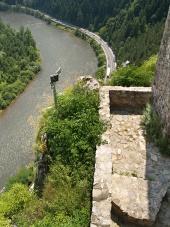 Outlook vom Schloss von Strecno