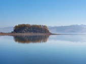 Slanica Insel in den frühen Morgenstunden