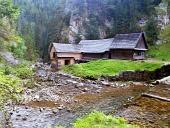 Wasser Sägewerk in Kvačianska Valley, Slowakei