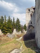 Die Ruinen der Burg Lietava, Slowakei