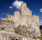 Das Schloss von Beckov, Slowakei