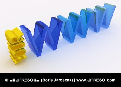 WWW κείμενο ΣΑΣ κατασκευασμένα από γυαλί