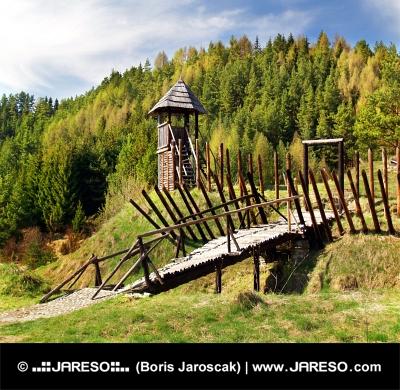Σπάνιες ξύλινο κάστρο σε Havranok μουσείο