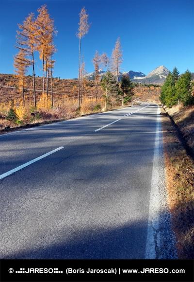 Δρόμος προς Τάτρα από Στρμπα το φθινόπωρο