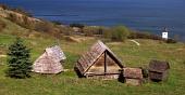 Σπάνιες ξύλινα σπίτια σε Havranok μουσείο