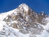 Χειμερινή άποψη του Lomnicky κορυφής (Lomnicky stit)