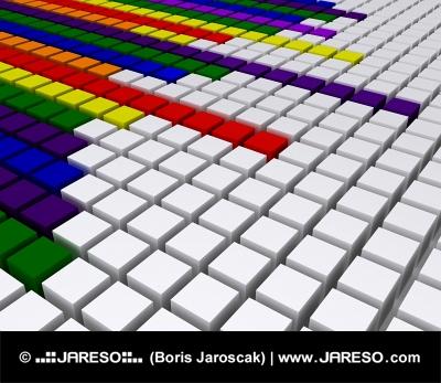 Rainbow diagonal equalizer