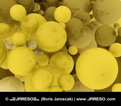Fondo dorado esférico