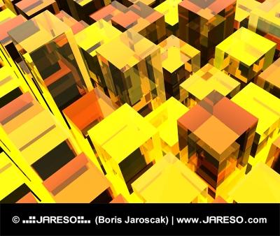 Cubos fondo amarillo
