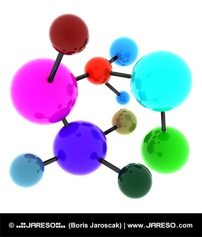 Molécula abstracta de colores