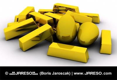 Barras de oro y los huevos de oro