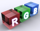 Concepto de cubos RGB