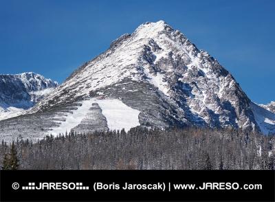 Pico de la montaña Predne Solisko