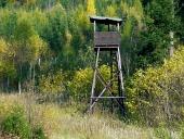 Madera torre de vigilancia