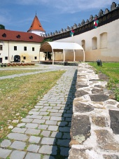 Patio del Castillo Kezmarok, Eslovaquia