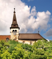 Torre del reloj del castillo de Orava, Eslovaquia