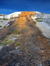 Detalle de las cascadas de travertino, Monumento Natural