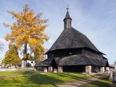 Iglesia en Tvrdosin, punto de referencia de la UNESCO